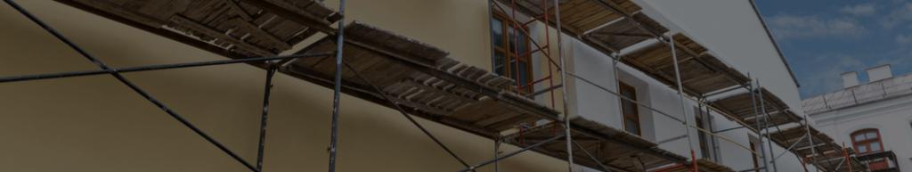 Àchaffaudage dans le cadre de travaux de ravalement de façade