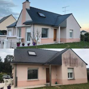 Maison avec un ravalement de façade