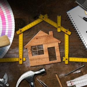 maison avec un chantier