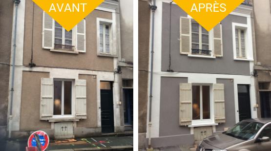 Réalisation ravalement de façade Angers (45)