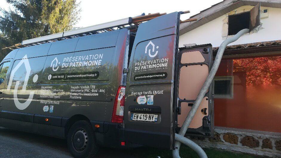 Camion PP Bordeaux combles soufflage
