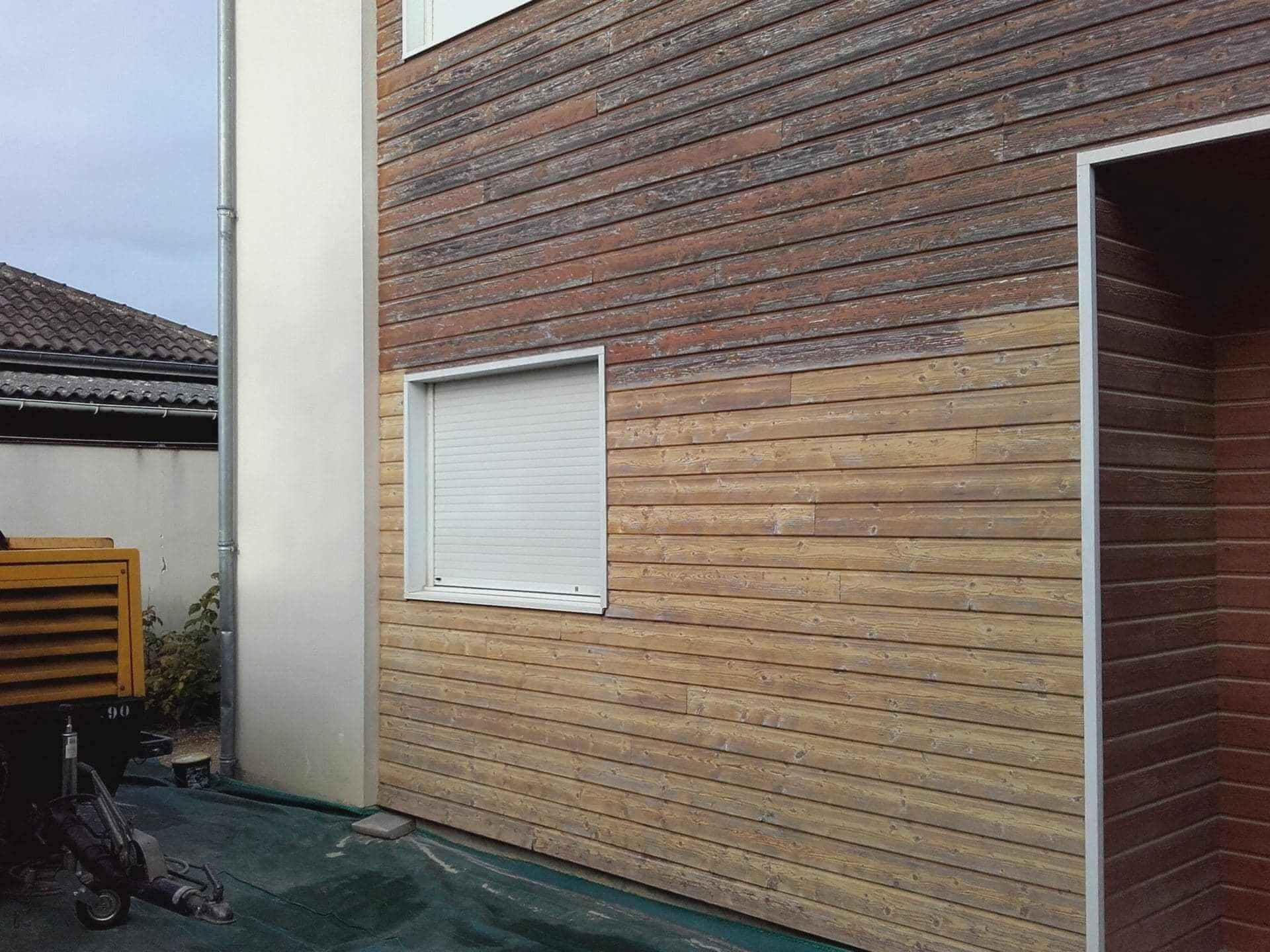 Ravalement/Rénovation d'une façade en bois